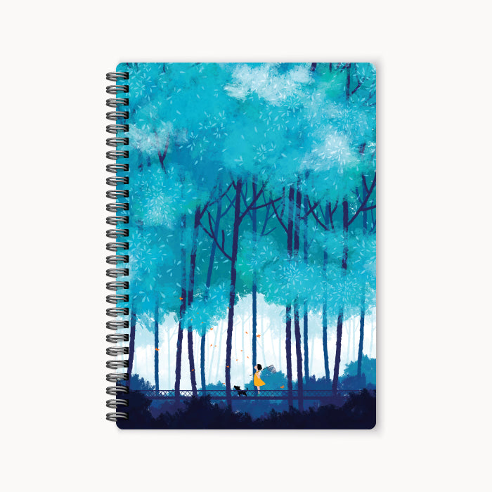 monosketch wirebound notebook blue summer