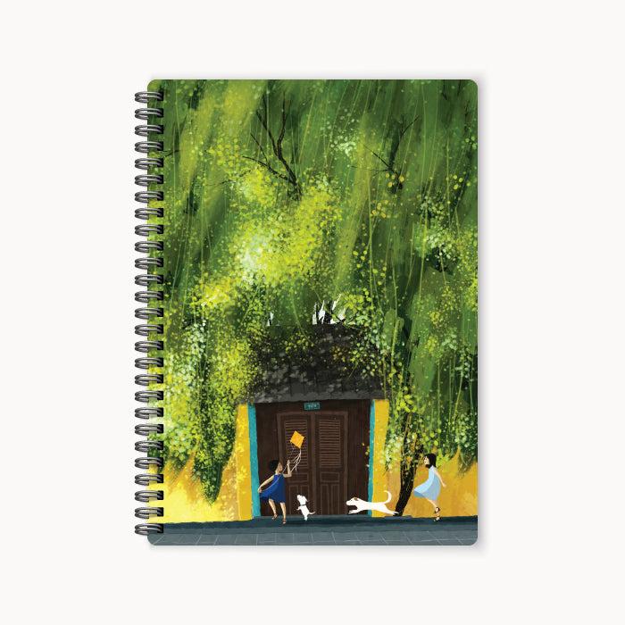 monosketch wirebound notebook Summer Green