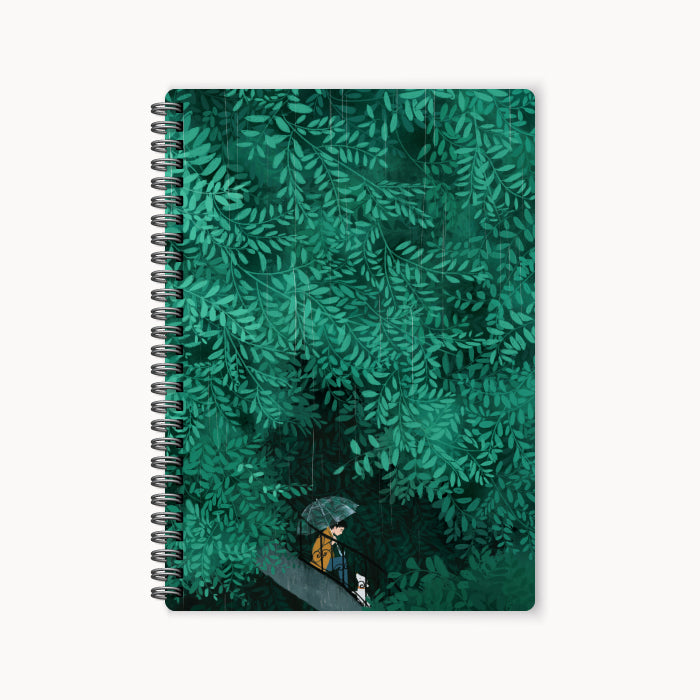 monosketch wirebound notebook The First Rain