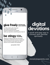Load image into Gallery viewer, digital devotions a quick and easy way to spiritually connect with families through technology