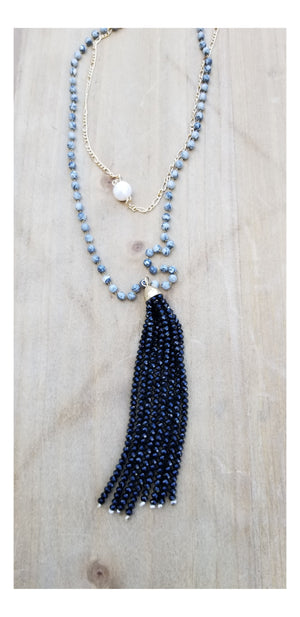 Natural Pearl Map Stone Tassel - Flash3 Boutique