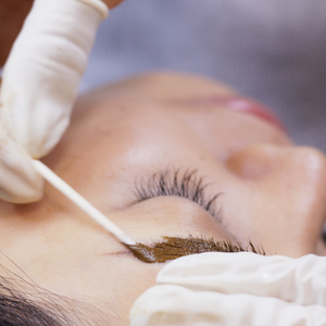Eyebrow tinting- to achieve a bolder look that frames the face. Eyebrow tinting typically lasts between six to eight weeks. When the hair falls out, so does the tint.  Lash Tint- gives added definition and makes mascara unnecessary until the tinted eyelashes fall out and new ones grow, it takes about four to six weeks.