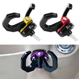 Aluminum Alloy Motorcycle Helmet Holder Double Hook Mount Scooter Luggage Hand Bag Hanger Bottle Hook with Screw