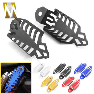 1 Pair Aluminium Alloy Fork Dust Shock Absorber Spring Covers Dirt Protector Motorcycle Accessories Prevent Damage