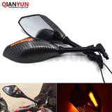 Universal 10 mm motorcycle LED turn signal rear view mirror side mirror