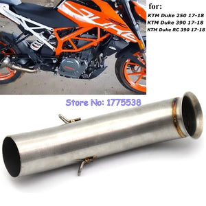 For KTM DUKE 390 Duke RC 390 Motorcycle Moto Exhaust Muffler Mid Middle Pipe Slip-on RC390