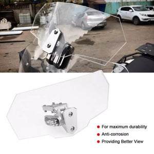 Airflow Adjustable Windscreen Wind Deflector Universal Motorcycle Windshield