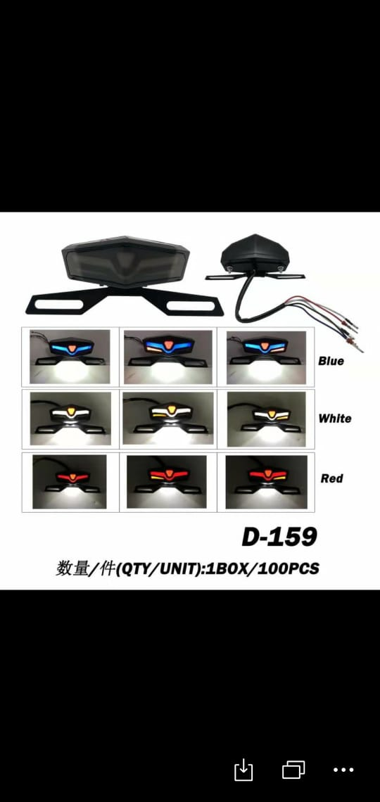Universal 3 in 1 Motorcycle Back Light