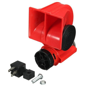 DC 12V Red Twin Tone Air Blast Electric Horn Loudspeaker Steam With Relay For Motor Bike Car
