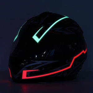 Motorcycle Helmet Light Strip LED Night Signal Light Luminous Stripe Fashion Modified Glowing Bars - Red