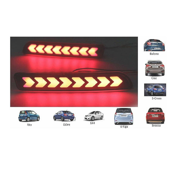 Reflector LED Brake Light for Bumper with Wiring for Maruti Suzuki Baleno New- Set of 2 Pcs
