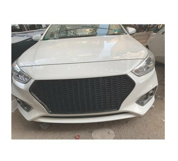 Front Grill Compatible For New Hyundai Verna (Audi Style Grill)