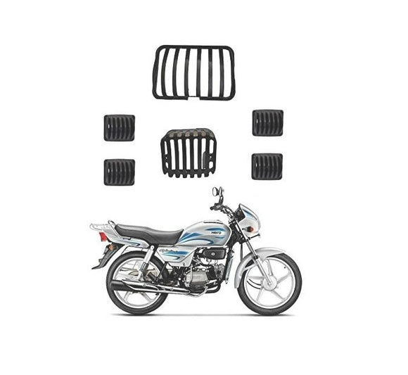 Headlight Grill Tail and Indicator Complete Grills Set (Pack of 6) of Hero Splendor