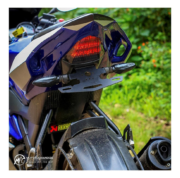 MOTOAGGRANDIZE Tail Tidy/Fender Eliminator for Yamaha R15 V2 | Color: Matte Black