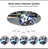 Vnetphone v6 1200m Motorcycle Helmet intercom