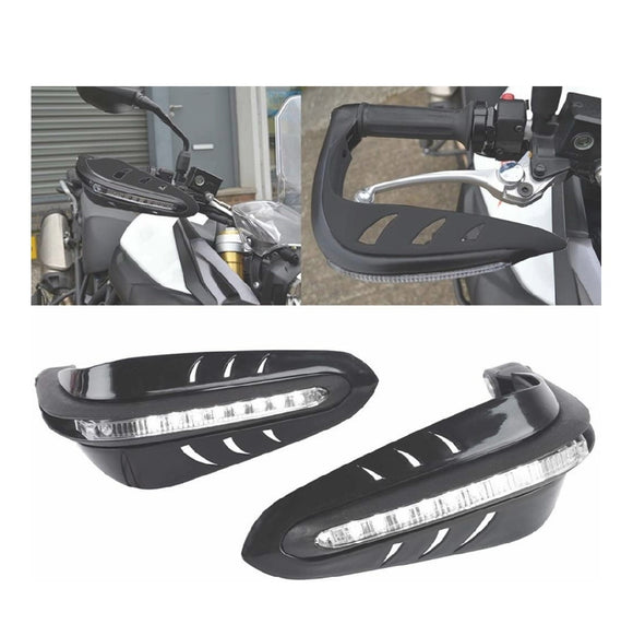 ABS Motorcycle Handguards with LED Light for 7-8-inch Grips, 3000x140x110mm