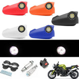 12V 7/8inch Motorcycle Led Drl Light Handguard Hand Guard Brush Bar Dirt Bike - Black