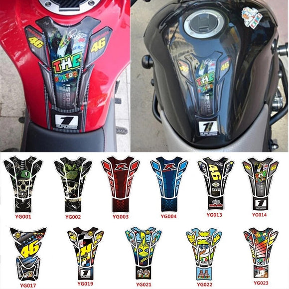 46 Stickers Motorcycle Stickers Fuel Tank Sticker Fishbone Dispensing Protective Decals Moto Car Universal Motorbike Sticker