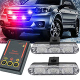 Police Stroboscope automobile 12V 6W LED Car Flasher Light Day Lights for Car Waterproof Strobe Controller