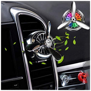 Propeller Airplane Shaped Car Diffuser Vent Clip Air Freshener Air Vent for All Brand Car (Color Assorted) 1 Piece