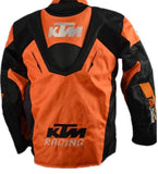 KTM Racing Riding Jacket, Orange with Black (X-Large)