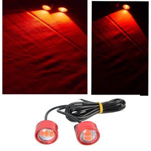 Bike LED Strobe Flash Handle Light (Set of 2, Red) Blinkers