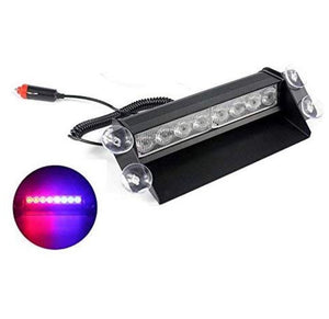8 LED Red Blue Police Flasher Light