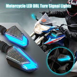 12V Motorcycle LED Turn Signal Lights Running Daytime Light Brightness DRL - Blue