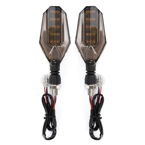2 Pair 12V Universal Motorcycle LED Turn Signal Indicator Lights Taillights Brake Lights