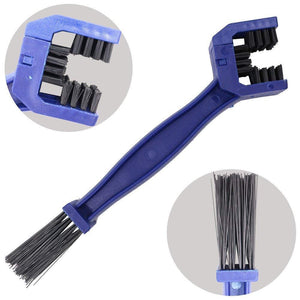 Motorcycle Chain Tire Maintenance Cleaning Brush MotorCycle Brake Dirt Remover - Blue