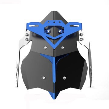Universal Metal Motorcycle Mudguard Fender Cover Rear Wheel Splash Guard - Blue