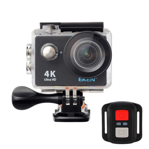 EKEN H9R Sports Action Camera 4K Ultra HD 2.4G Remote WiFi 170 Degree Wide Angle - Black