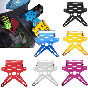 Universal X-Tailtidy Motorcycle License Plate Holder Aluminum Alloy Mount Bracket Adjusted Number Plate Holder - Black