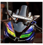 Bolt Double Bubble Visor for Yamaha R15 V3 (Black)