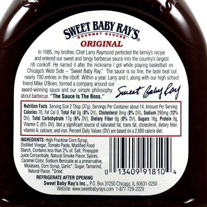Sweet Baby Ray's BBQ - Original (18 OZ)