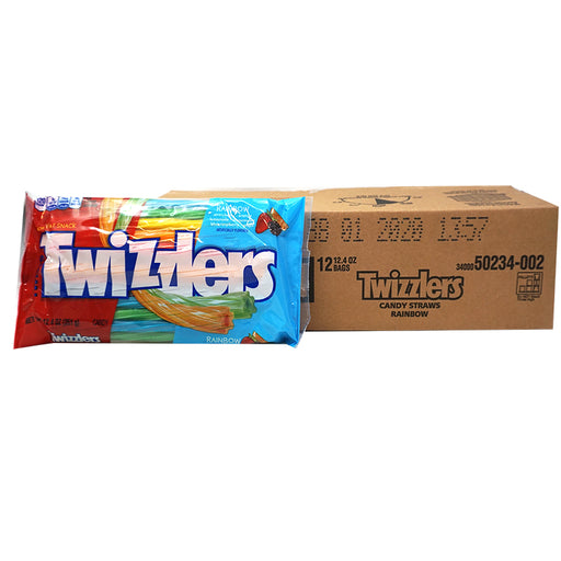 Twizzlers Twists Rainbow Big Bag (351 g) (12er)