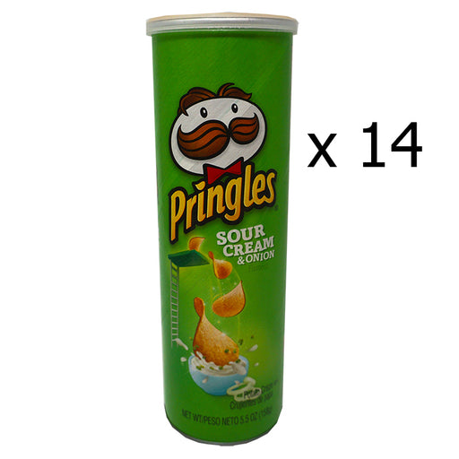 Pringles Sour Cream & Onion (158 g) (14er)