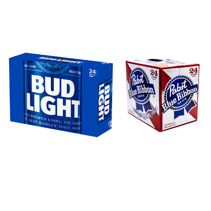Bud Light Dose (24er) & Pabst Blue Ribbon (24er)
