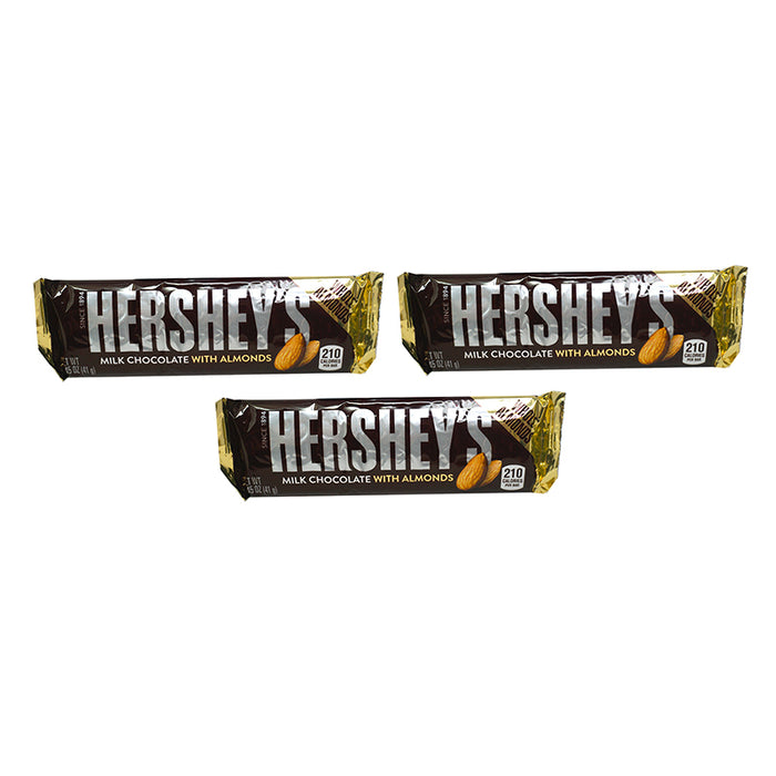 Hershey's Bar Milk Chocolate & Almonds (43 g) (3er)