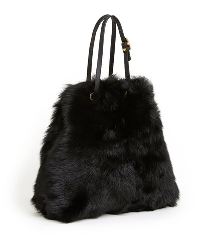 Tie Shopper - S / Black Shearling & Black - (ki:ts)