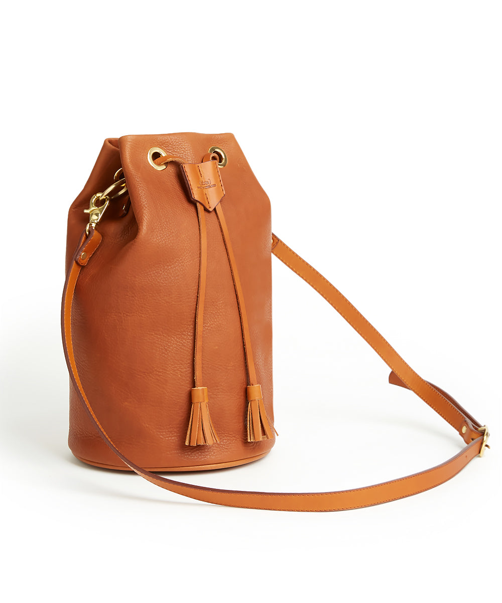 Drawstring Bag with 2 Way Shoulder Strap - L / Whisky - (ki:ts)