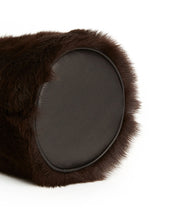 Load image into Gallery viewer, Drawstring Shearling Bag - S / Brown Shearling & Black - (ki:ts)