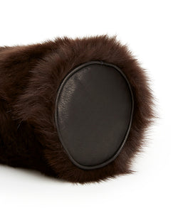 I-O Shearling Bucket - S / Brown Shearling & Black - (ki:ts)