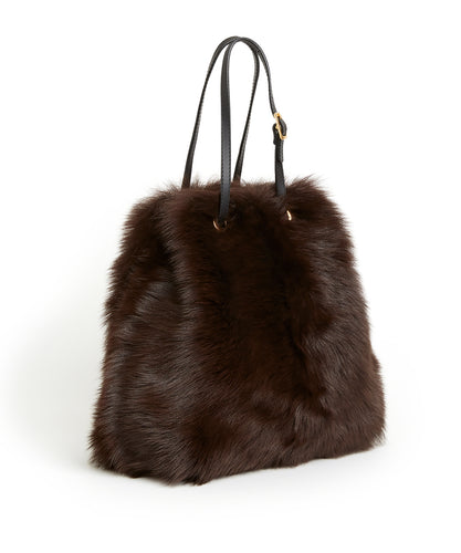 Tie Shopper - S / Brown Shearling & Black - (ki:ts)