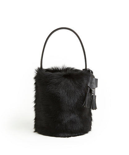 I-O Shearling Bucket - S / Black Shearling & Black - (ki:ts)