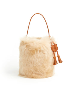 I-O Shearling Bucket - S / Biscuit Shearling & Tan - (ki:ts)