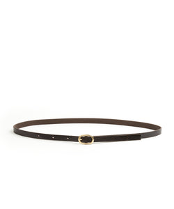 Narrow Belt - 15 / Dark Brown - (ki:ts)