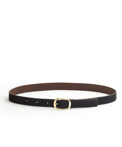 Suede Contrast Belt - 30 / Midnight & Dark Brown (ki:ts)