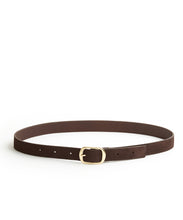 Load image into Gallery viewer, Suede Contrast Belt - 30 / Chocolate & Dark Brown - (ki:ts)