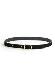 Load image into Gallery viewer, Suede Contrast Belt - 30 / Black & Midnight - (ki:ts)